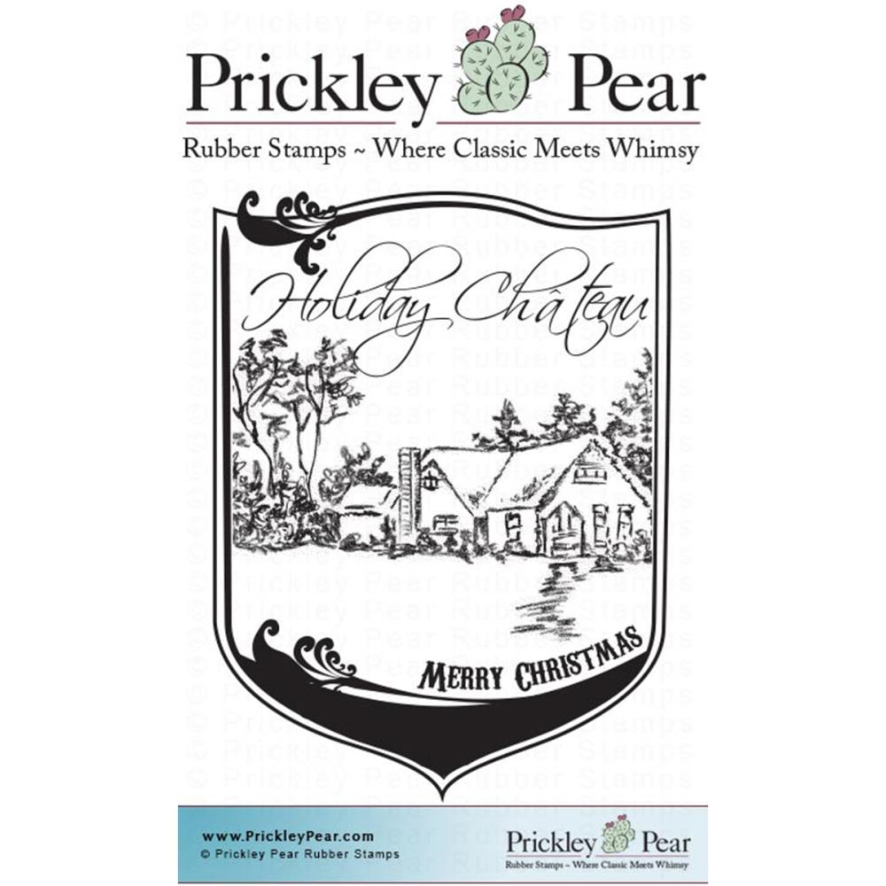 Prickley Pear Cling Stamps 3.75 Inch X 3 Inch-Holiday Chateau