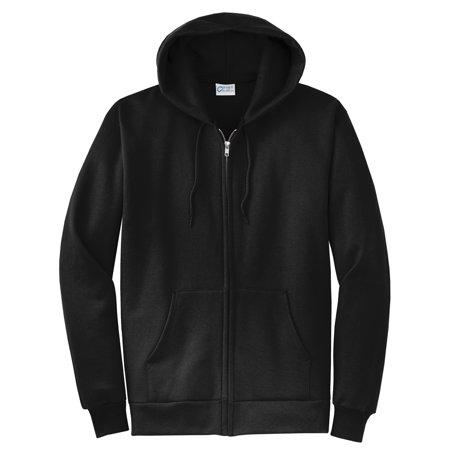 Solid Black Hoodie Sweater Zip Up