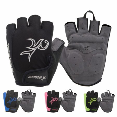 Outdoor Women Road MTB Bike Bicycle Cycling Outdoor Sports Half Finger Gloves - image 3 de 7