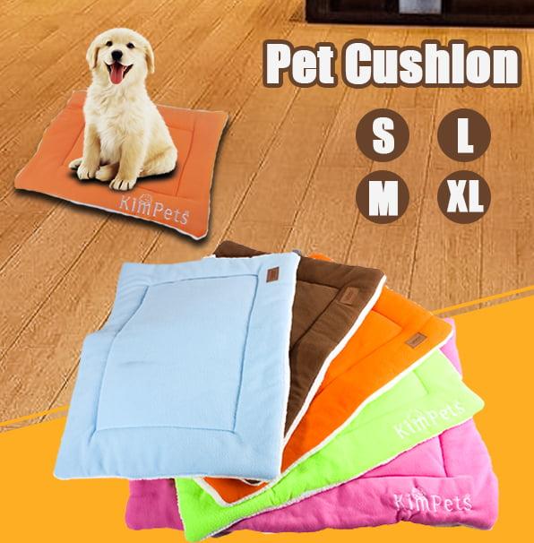 Super Soft Backed Sheepskin Padded Pet Pad Dog Cat Bedding Bed Medium Large