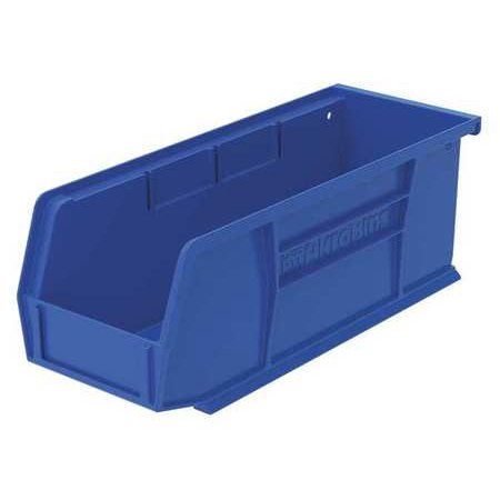 Akro-Mils 30 lb Capacity, Hang and Stack Bin, Blue