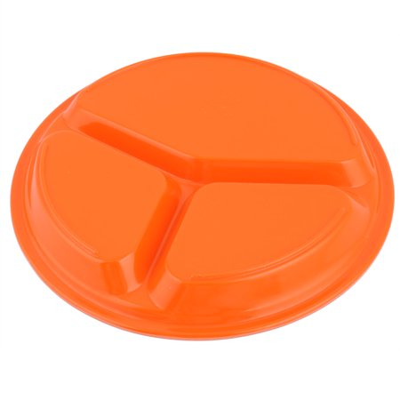 Restaurant Plastic Food Snack Dessert Container Plate Divided Tray Dish Orange - image 2 of 4