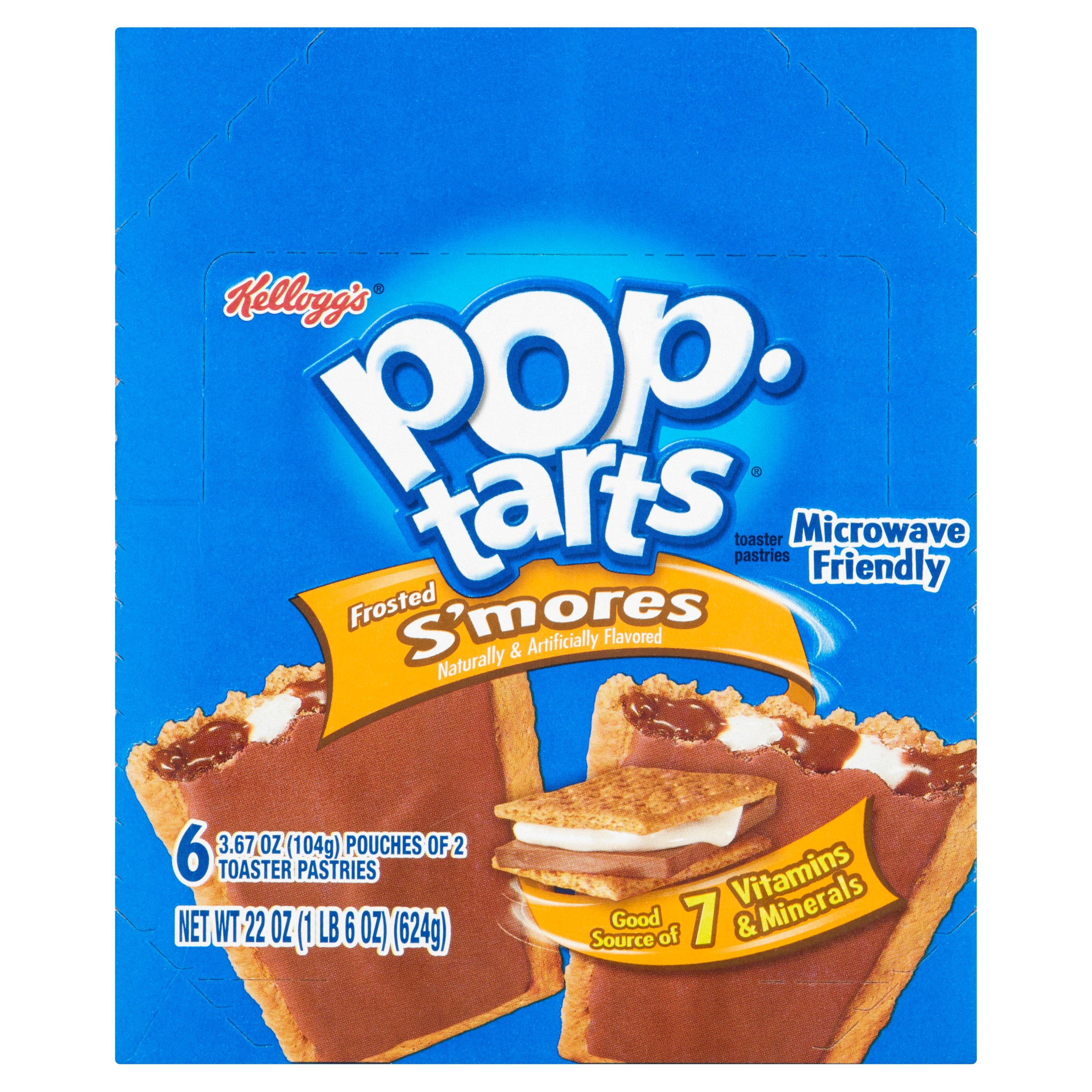 Kellogg's Pop Tarts Frosted S'mores Toaster Pastries, 3.67 oz, 6 count by Kellogg Sales Co.