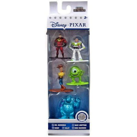 Disney / Pixar Nano Metalfigs Mr. Incredible, Buzz Lightyear, Woody, Mike Wazowski & Sulley Diecast Figure 5-Pack