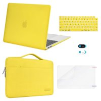 Mosiso 5 in 1 New Macbook Air 13 Inch Case A2179 2020 Release, Hard Case Shell Cover&Sleeve Bag for Apple MacBook Air 13'' with Retina Display andTouch ID, Yellow