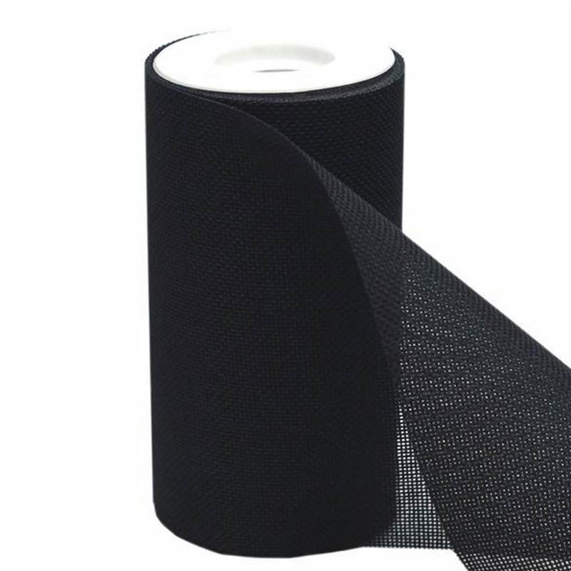 """6""""x10 Yards Black Polyester Fine Rustic Burlap Jute Roll For Wedding Party Decorations"""