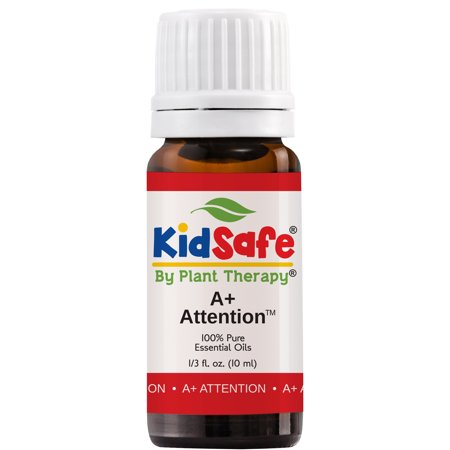 Plant Therapy Essential Oil | A+ Attention Synergy | Focus, Mind Calming, Concentration Blend |100% Pure, KidSafe | 10mL