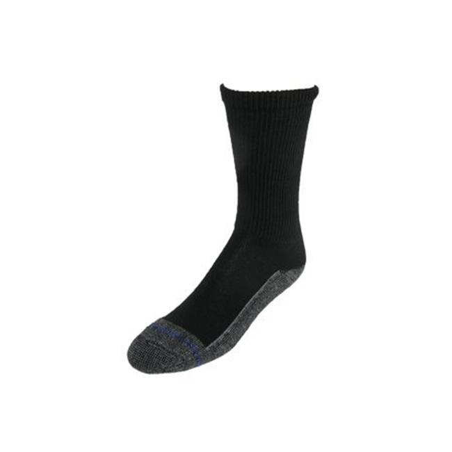Loose Fit Stays Up No.571 Black Merino Wool Crew Sock, Black - Small - image 1 de 1
