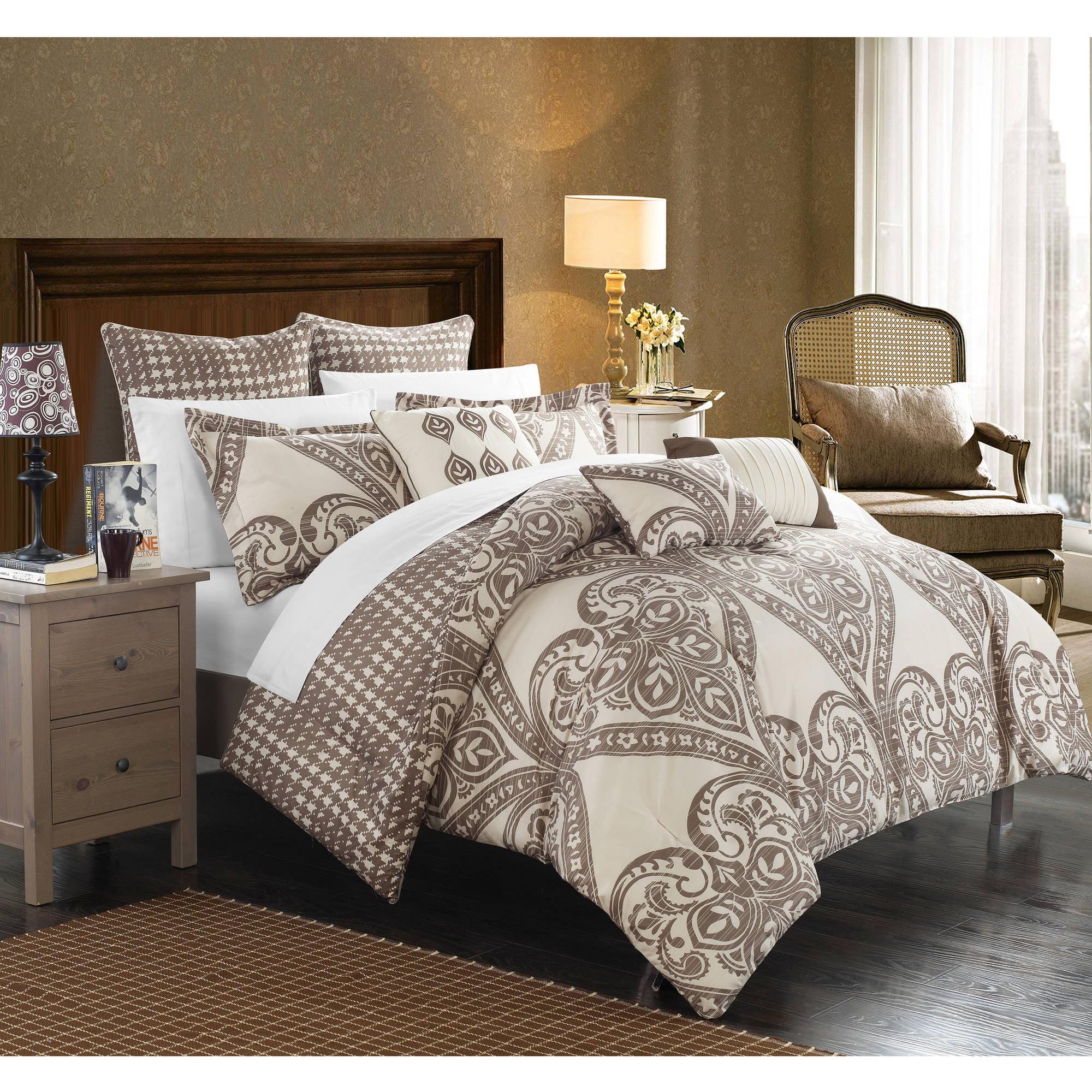 Chic Home 12piece Perugia Oversized Overfilled Reversible Printedforter  Set  Walmart