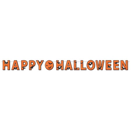 Glittered Happy Halloween Streamer Party Accessory (1 count) (1/Pkg), This item is a great value! By Beistle - Halloween Streamers Ideas