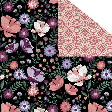 David Textiles Cotton Double Face Quilt Garden Blooms 42 Inches Garden Cotton Quilt Fabric Border