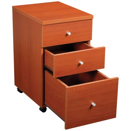 Fluted Cherry Pedestal - Box/Box/file Pedestal, 16