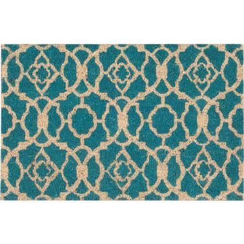 "Waverly Greetings ""Lovely Lattice"" Teal Doormat by Nourison"