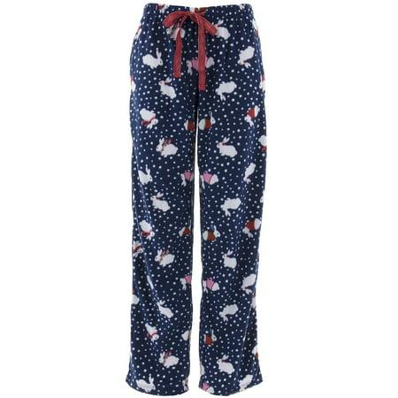Rene Rofe Women's Navy Bunny Fleece Pajama Pants](Bunny Onesie For Women)