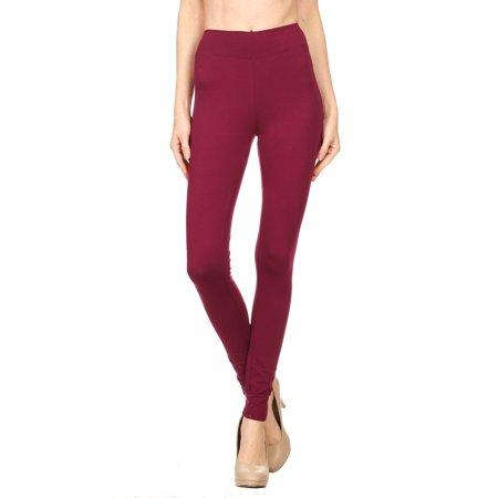 Color 5 Women's Cotton Spandex Basic Full Length Legging 95% Cotton 5% Spandex