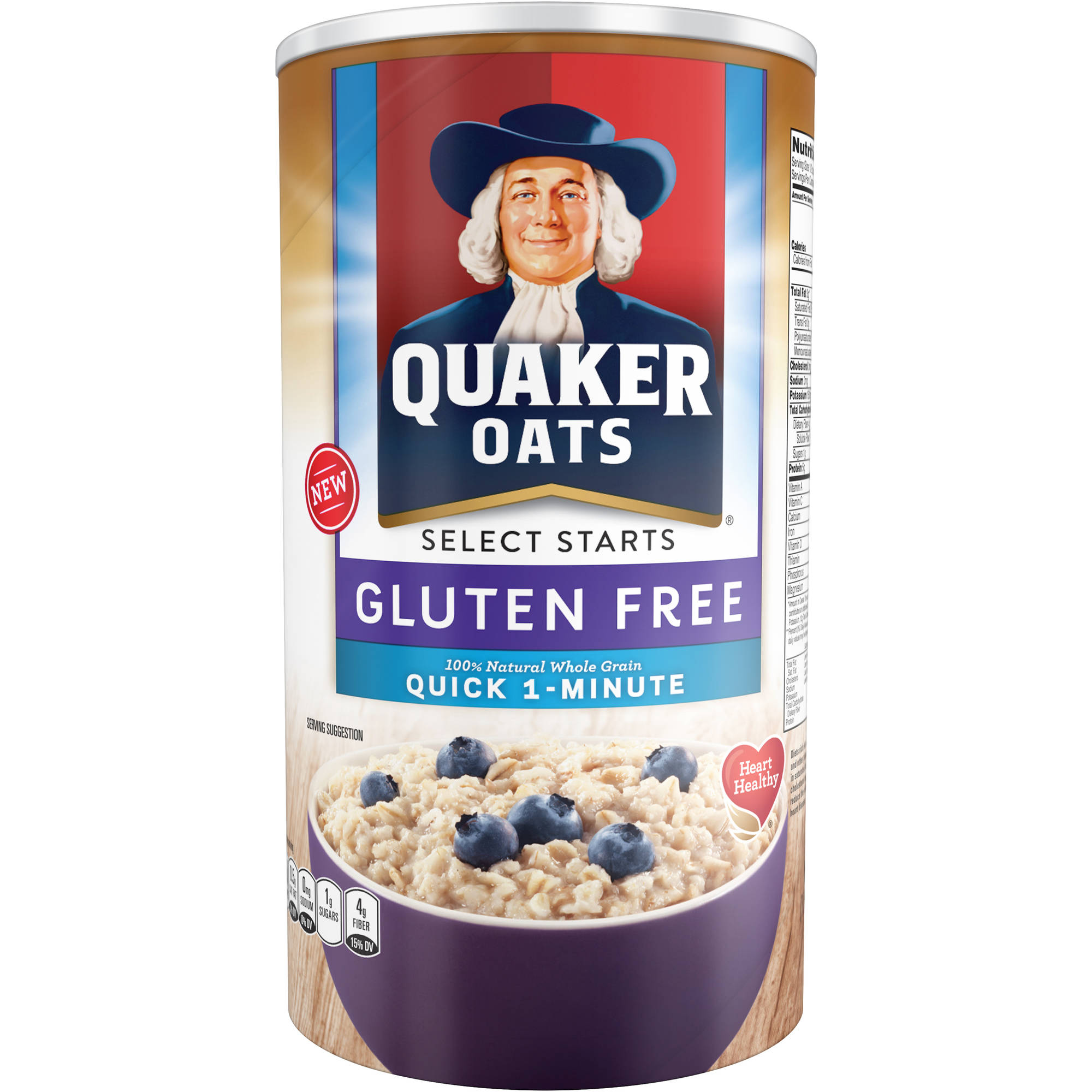Quaker Oats Select Starts Quick 1-Minute Oats, 18 oz