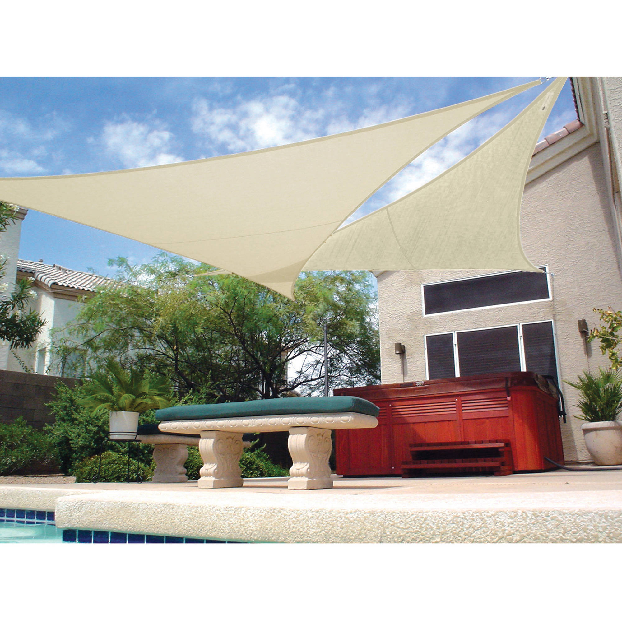 "Coolaroo Ready to Hang Shade Sail, 11'10"", Natural Colors"