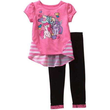 My Little Pony Toddler Girl Hi-Lo Tee and Legging Outfit Set