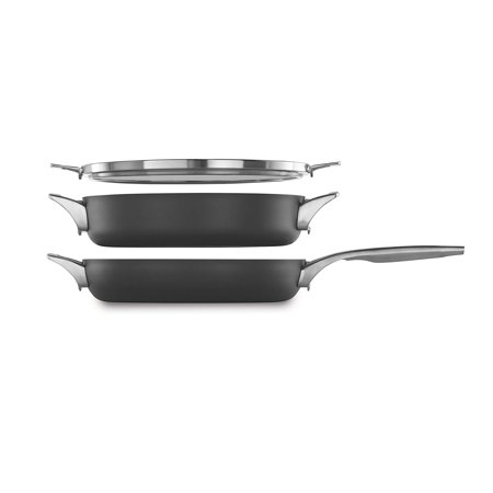 Calphalon Premier Space Saving Nonstick 3-Piece 12-Inch Stack Cookware (Premier Cookware)