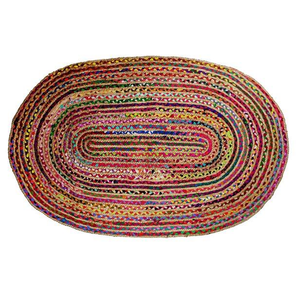 Beauty Threadz - 2x3 Feet Oval Rag Rug