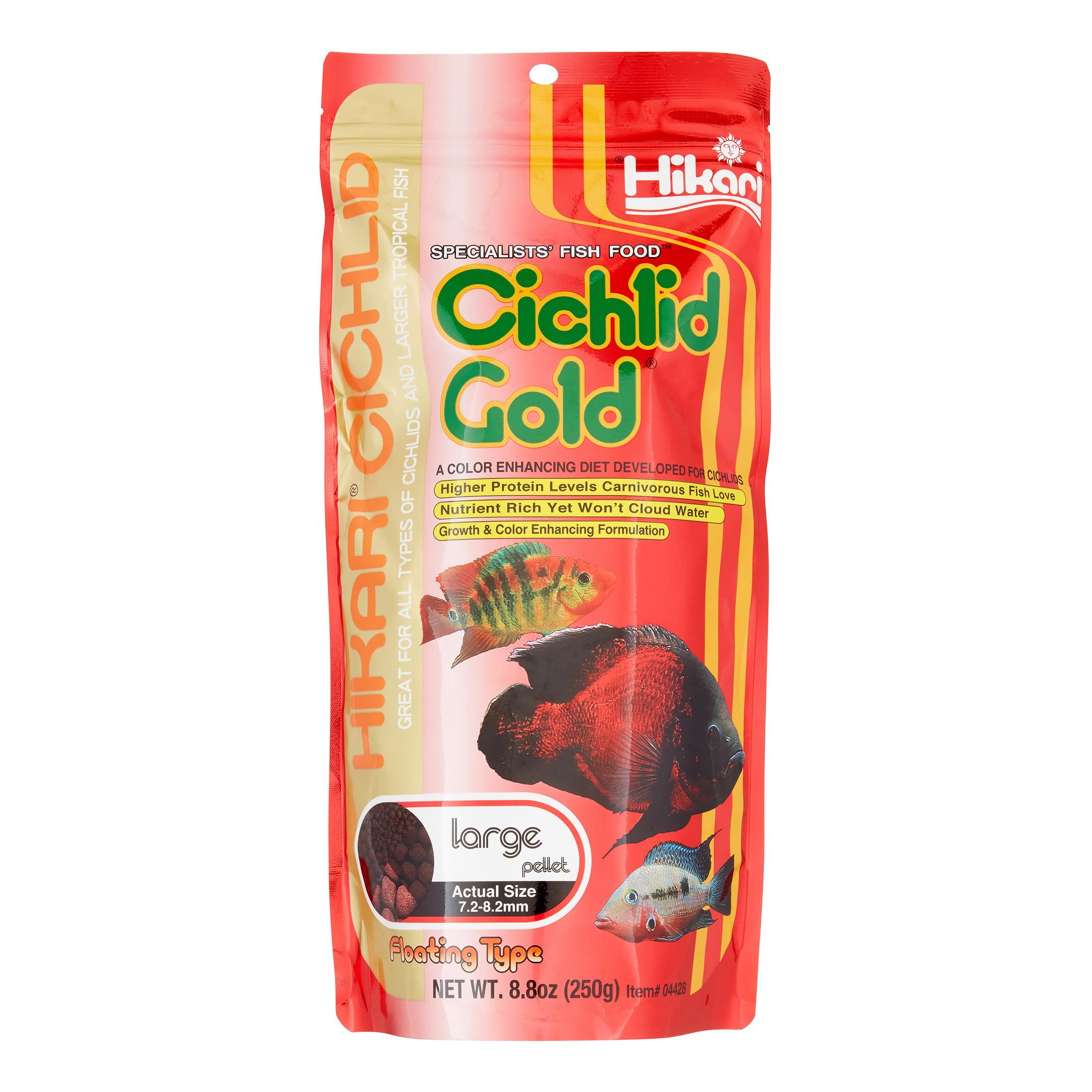 Hikari Cichlid Gold Baby Floating Pellets Freshwater Cichlid Fish Food, 8.8 Oz