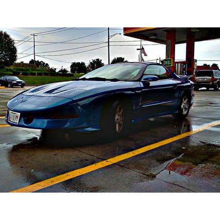 Canvas Print Trans Am Muscle Car Water Automotive Pontiac Car Stretched Canvas 10 x