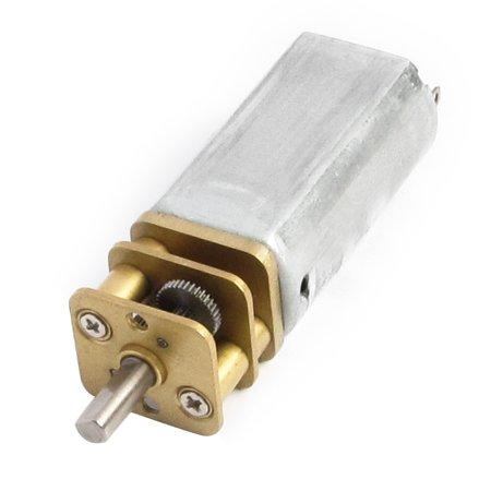 DC 6V 100RPM High Torque Rectangular Permanent Magnet Electric Gear Box Motor Dc Permanent Magnet Motor