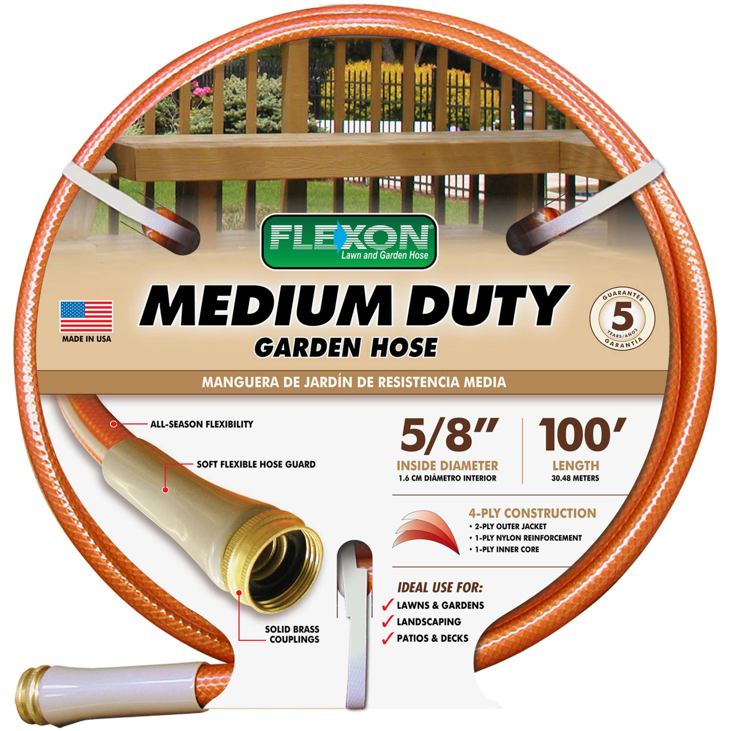 Flexon 100' Copper Garden Hose