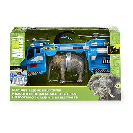 Animal Planet Elephant Rescue Lights & Sound Helicopter Playset by, By Toys R Us Ship from US - Toys R Us Reno