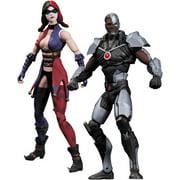 Injustice Cyborg vs. Harley Quinn Action Figures, 2-Pack