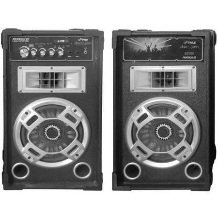 Pyle-Pro Disco Jam Dual Bookshelf Stereo Speaker System