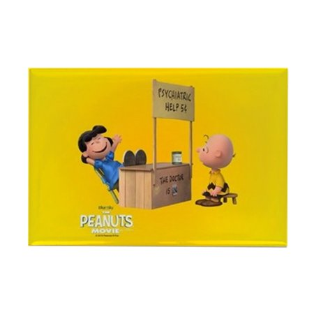 CafePress - Lucy And Charlie Brown Full Bleed Magnets - Rectangle Magnet, 2