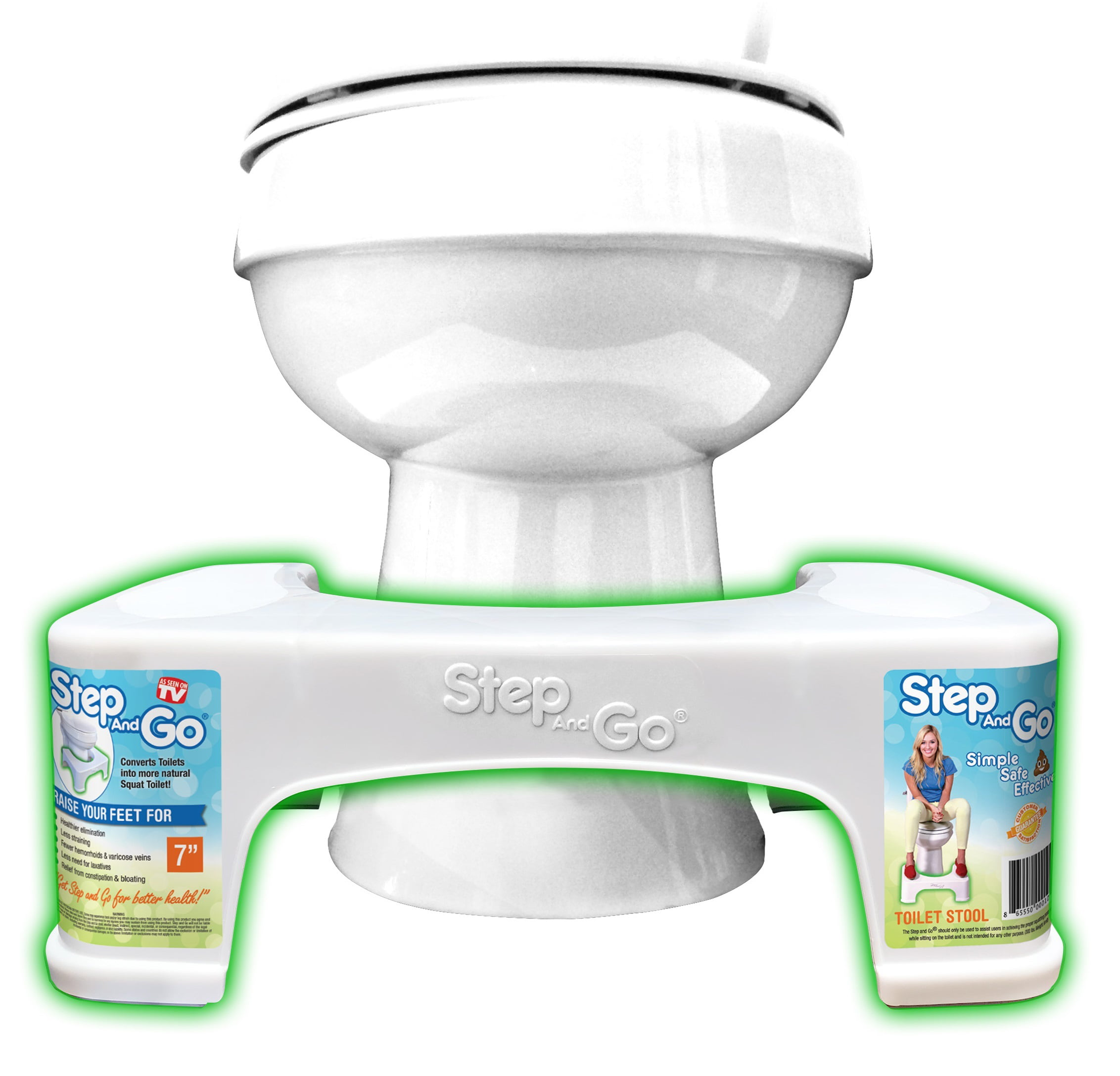 "Step And Go 7"" Squatty Toilet Potty Aid"