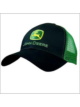 3775ef626a7 Product Image JOHN DEERE MENS LOGO ADJUSTABLE BLACK BASEBALL CAP W  GREEN  MESH BACK