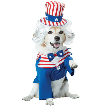 Patriotic Uncle Sam Pet Costume - Sam And Cat Halloween Full
