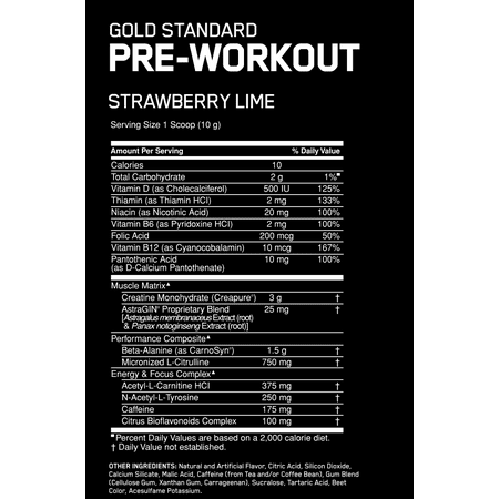 Best Optimum Nutrition Gold Standard Pre Workout Powder, Strawberry Lime, 30 Servings deal