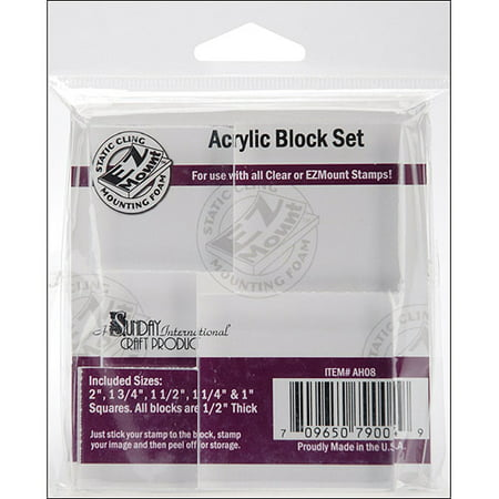Acrylic Stamping Block Kit (Acrylic Block Set of 5)
