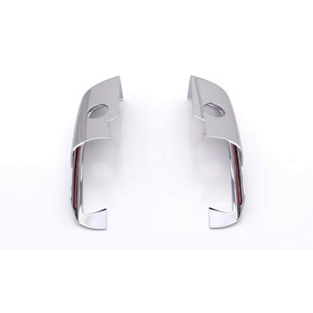 F350 Chrome Mirror Cover (AVS 14-18 Chevy Silverado 1500 Lower Mirror Covers 2pc - Chrome)