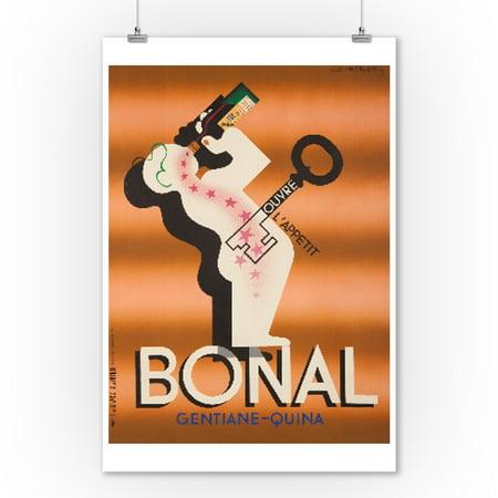1933 Fine Art (Bonal Vintage Poster (artist: Cassandre) France c. 1933 (9x12 Art Print, Wall Decor Travel Poster))