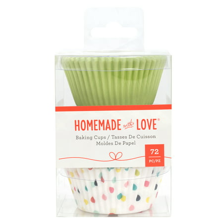 AC Homemade with Love Baking Cups Party, 72pc (Cool Homemade Halloween Party Decorations)