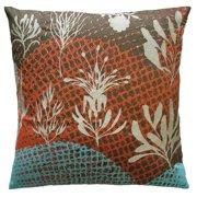 Koko Company Ecco Off-White Leaves Decorative Pillow