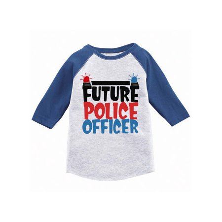 - Awkward Styles Future Police Officer Youth Raglan Themed Party Funny Police Jersey Shirts for Boys Girls Birthday Gifts Cute Future Job Tshirts for Kids Police Baseball Shirt Kids Officer Gifts