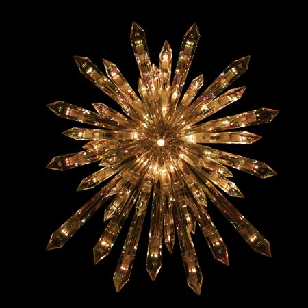 """13.5"""" Lighted Crystal Star Shaped Christmas Tree Topper ..."""