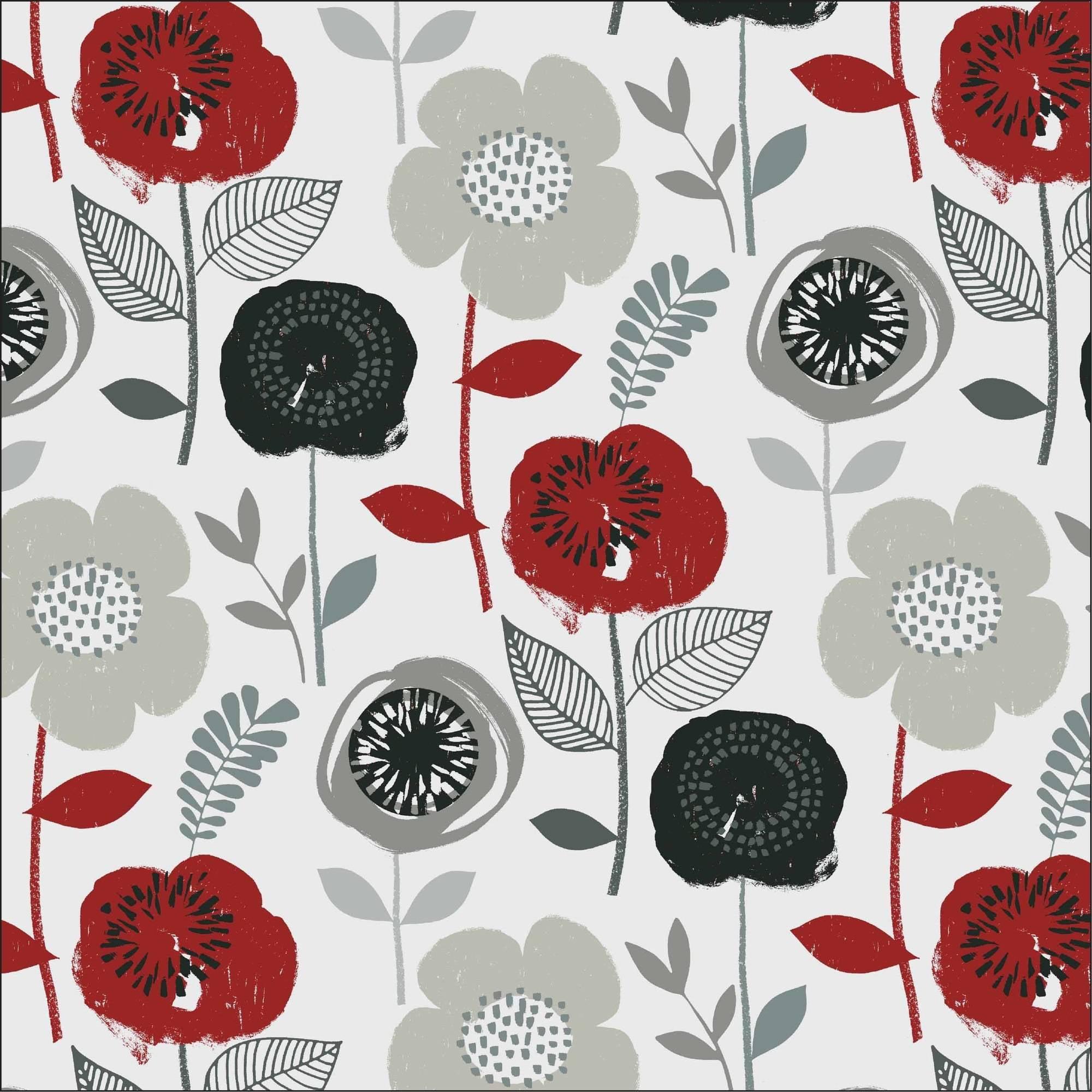"Waverly Inspirations Cotton Duck 44"" Bloom Onyx Fabric, per Yard"
