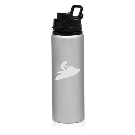 Sport Jet Ski - MIP Brand 25 oz Aluminum Sports Water Travel Bottle Jet Ski (Silver)