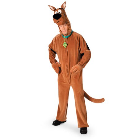 Scooby Doo Plush Deluxe Adult Halloween Costume - One - Scooby Do Costume