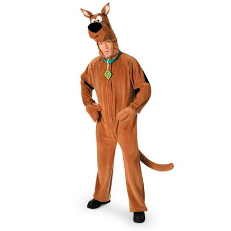 Scooby Doo Plush Deluxe Adult Halloween Costume - One Size (Scoobydoo Costumes)