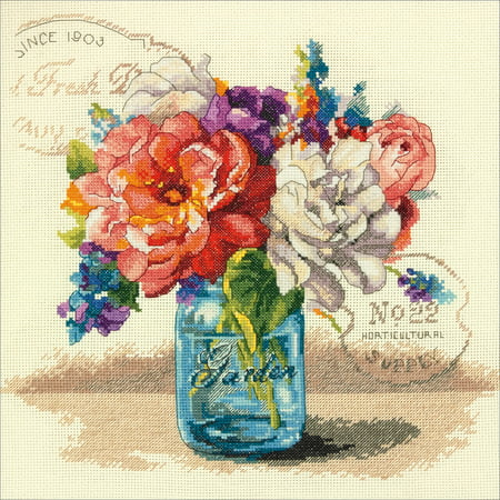 Garden Bouquet Counted Cross Stitch Kit, 12