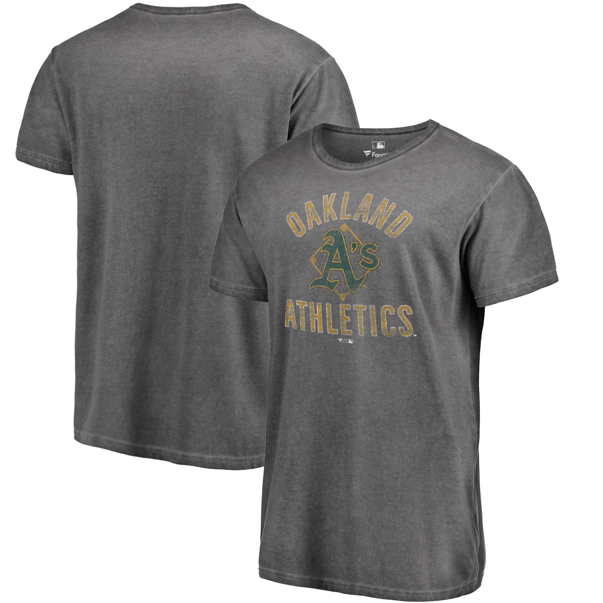 Oakland Athletics Fanatics Branded Shadow Washed Icon T-Shirt - Black