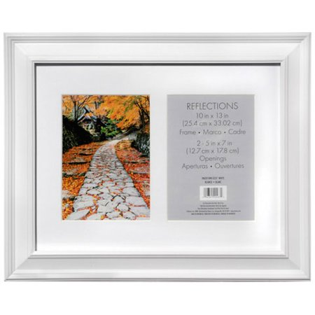 UPC 096391204370 - 2 Opening Collage Picture Frame: White, 5 x 7 ...